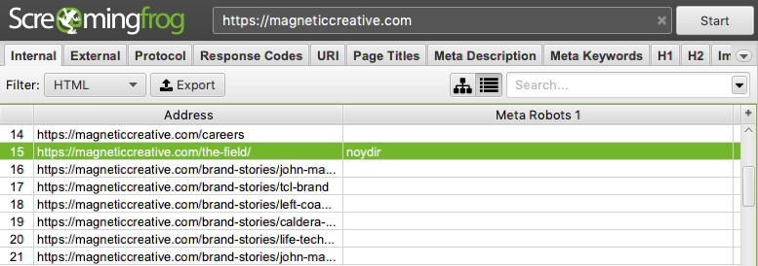 how to check meta robots tags